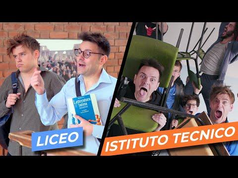 LICEO VS ISTITUTO TECNICO - Parodia Scuola -  iPantellas