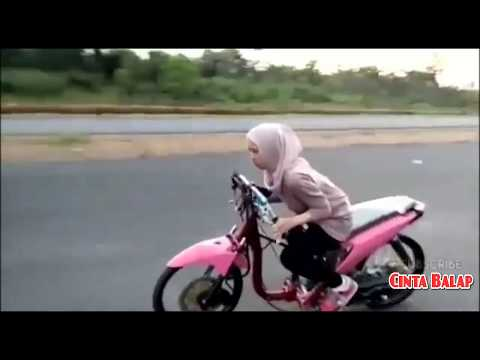 Joki Cewek HIJAB Terbaru!! Setting Drag Bike Liaran 2017