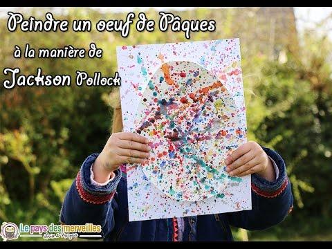 Peindre à La Manière De Jackson Pollock Bricolage De Pâques