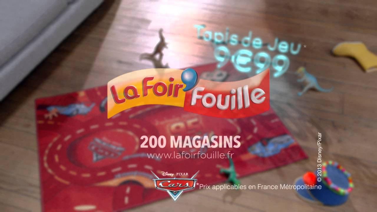 Publicit Pour Le Tapis Cars La Foir 39 Fouille Youtube