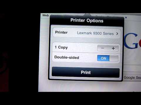 How To Print From iPad Via AirPrint and Mac OS X