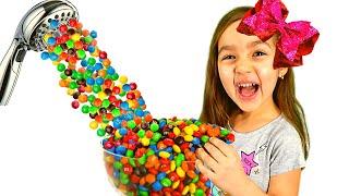 Папа хочет конфеты или Волшебный душ из m&m's от Алисы