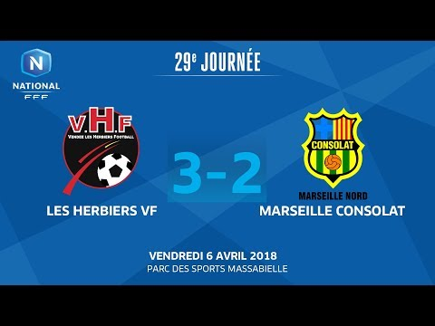 J29 : Vendée Les Herbiers F. - GS Marseille Consolat (3-2), le replay I National FFF 2018