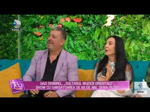 Teo Show (19.10.2018) - Gazi Demirel, show cu dansatoarea de 68 de ani, Sema Yildiz! Partea 2