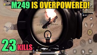 M249 Is So Powerful | 23 Kills Miramar Solo Vs Squad | PUBG Mobile