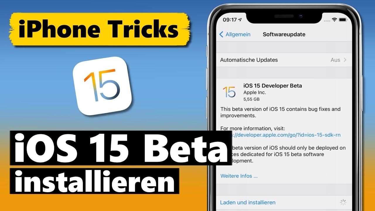 iOS 15 BETA installieren ohne PC & ohne Developer Account (deutsch/german)