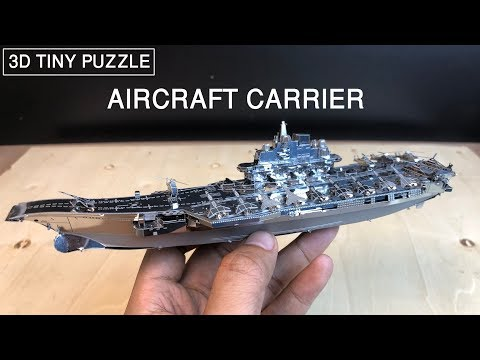 3D Metal Model Kit - AIRCRAFT CARRIER PLAN Liaoning