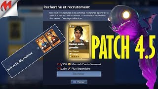 [FORTNITE-SAUVER THE WORLD] PATCH 4.5, MYTHICAL HEROS RECRUTEMENT, COLLECTION, ETC...