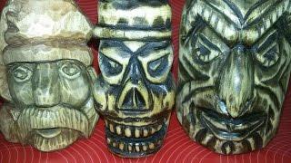 Статуэтки из дерева своими руками Скульптура Деревянный череп Wood carving