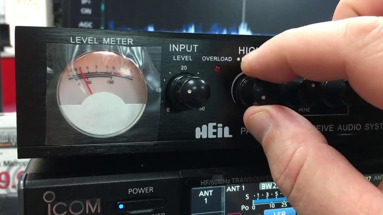 Heil Receive Audio System on an Icom IC-7610