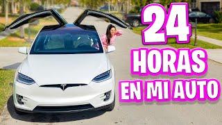 24 HORAS EN EL AUTO 😱 1 DIA ENCERRADA EN EL CARRO 🚗 EL COCHE SE VUELVE UN ASCO! Sandra Cires Art
