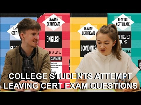 College Students Attempt Leaving Cert Exam Questions