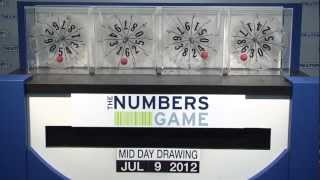 Midday Numbers Game Drawing: Monday, July 9, 2012