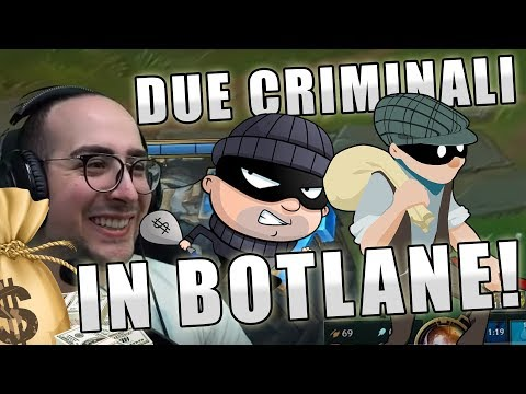 MATTEOHS | DUE CRIMINALI IN BOTLANE W/SHIROE | LEAGUE OF LEGENDS GAMEPLAY ITA thumbnail