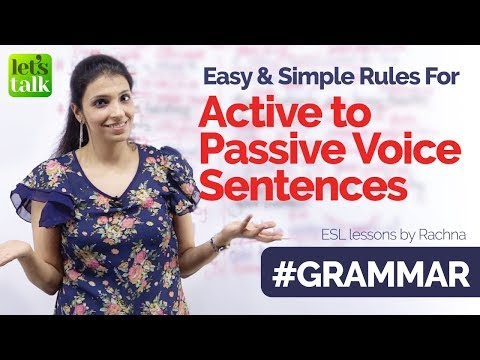 Basic English Grammar rules to convert Active voice to Passive voice sentences.   Learn English