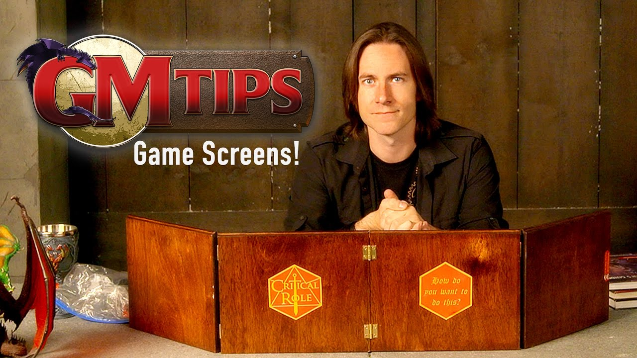 Setting Up Your Gamemasters Screen GM Tips w Matt