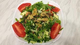 Теплый Салат с Курицей и Овощами | Правильное питание