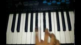 Bayanchya aajisa song on piano