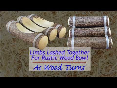 Limbs Lashed Together For Rustic Wood Bowl