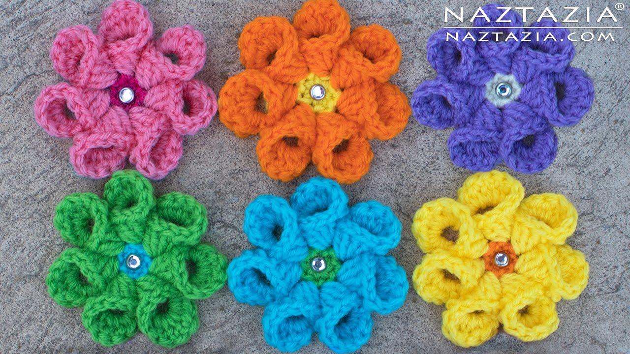 Crochet Bell Petal Flower Right Left Hand Diy Tutorial For Rose Flores Crochetflowers Pretty Diagram