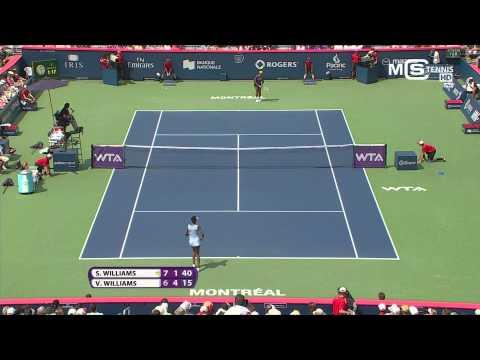 Serena Williams vs Venus Williams, Rogers Cup 2014 (1/2 Finale), highlights HD - Montreal