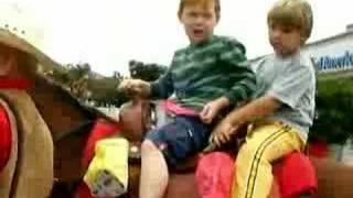 Jack and Severio ride Bear