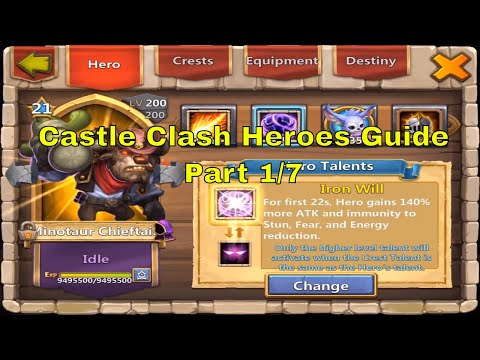 Castle Clash All Heroes Best Talents, Enchantments, Traits, Insignias, Pets @ Million Might (1/7)