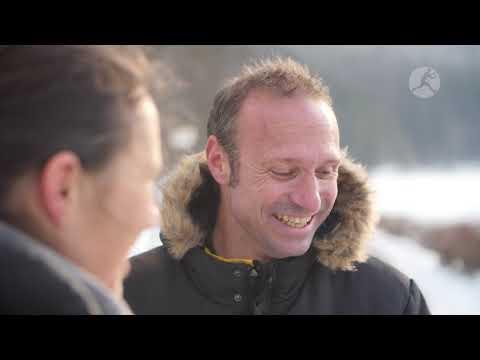 Mit Fed Cup-Kapitän Jens Gerlach auf der Skipiste