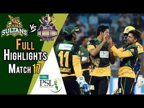 Full Highlights | Quetta Gladiators Vs Multan Sultans  | Match 17 | 7th March | HBL PSL 2018