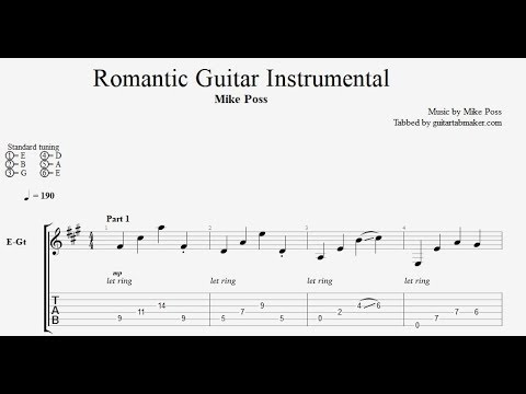 romantic guitar instrumental tab electric guitar tab pdf guitar pro youtube. Black Bedroom Furniture Sets. Home Design Ideas
