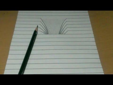 Comment Dessiner Une Illusion D Optique Trou Dessin 3d Youtube