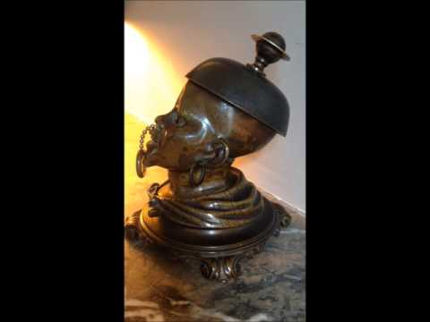 antique desk bell bronze  19th century