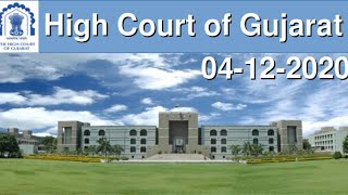 LIVE STREAMING OF CHIEF JUSTICE'S COURT[DIVISION BENCH 1] OF GUJARAT HIGH COURT - 4th DECEMBER 2020
