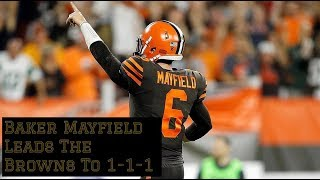 Film Session || Baker Mayfield's Debut Leads Browns To Win || 1-1-1!!!!!!!