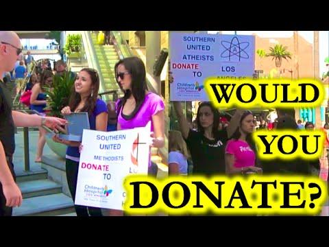 Atheist vs Christian Fundraiser