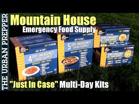 """Mountain House: """"Just in Case"""" Emergency Multi-Day Kits"""