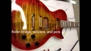 Making An Electric Gibson Les Paul Style Guitar From A Kit