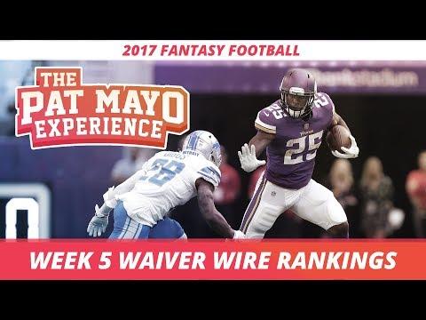 2017 Fantasy Football - Week 5 Waiver Wire Rankings, Injuries, Recap + MORE