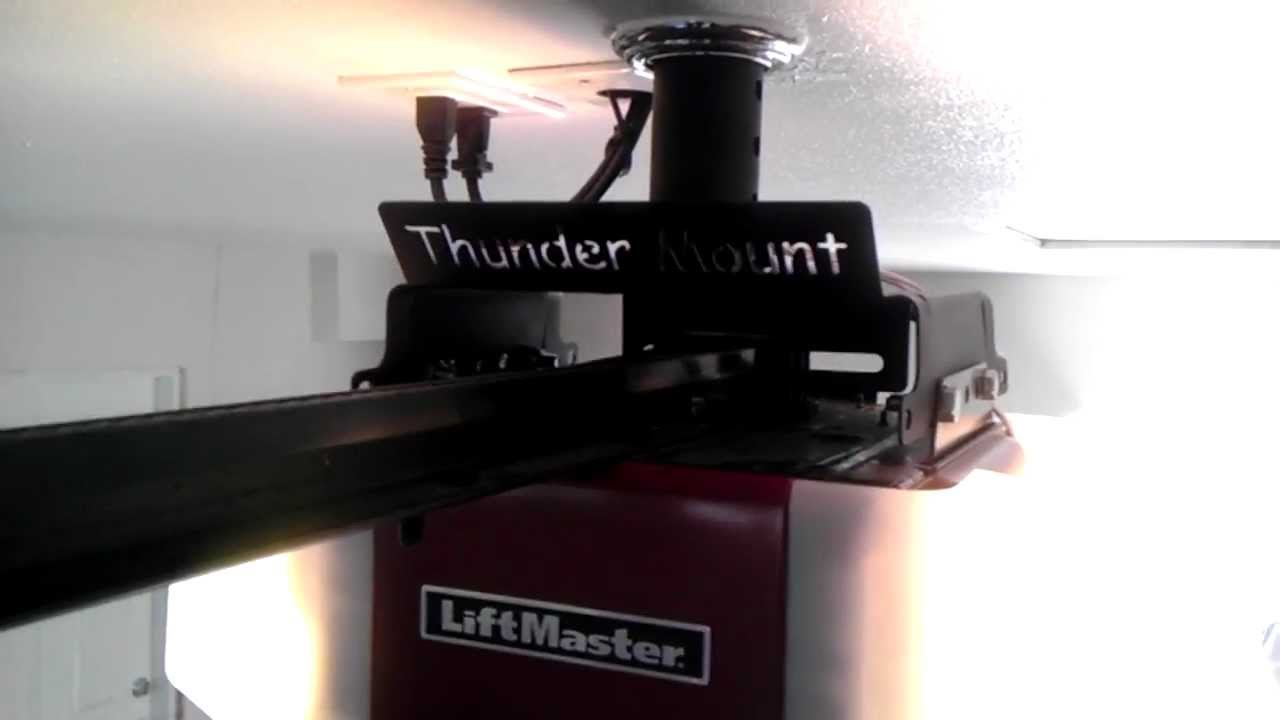 Thunder Mount System Mounted Above The Ceiling And On A
