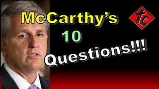 Truthification Chronicles McCarthy's 10 Questions!!!