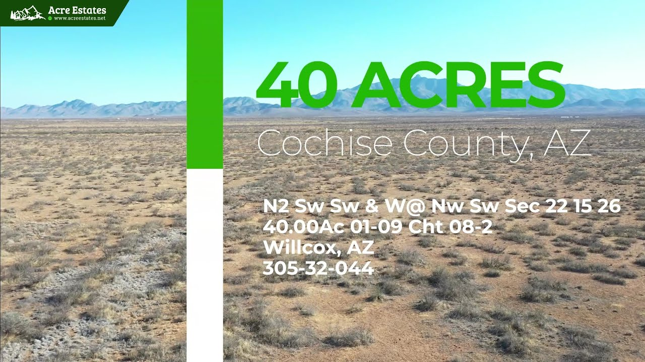 Peaceful and Spacious 40 acre Parcel Surrounded by Mountains in Willcox, Arizona