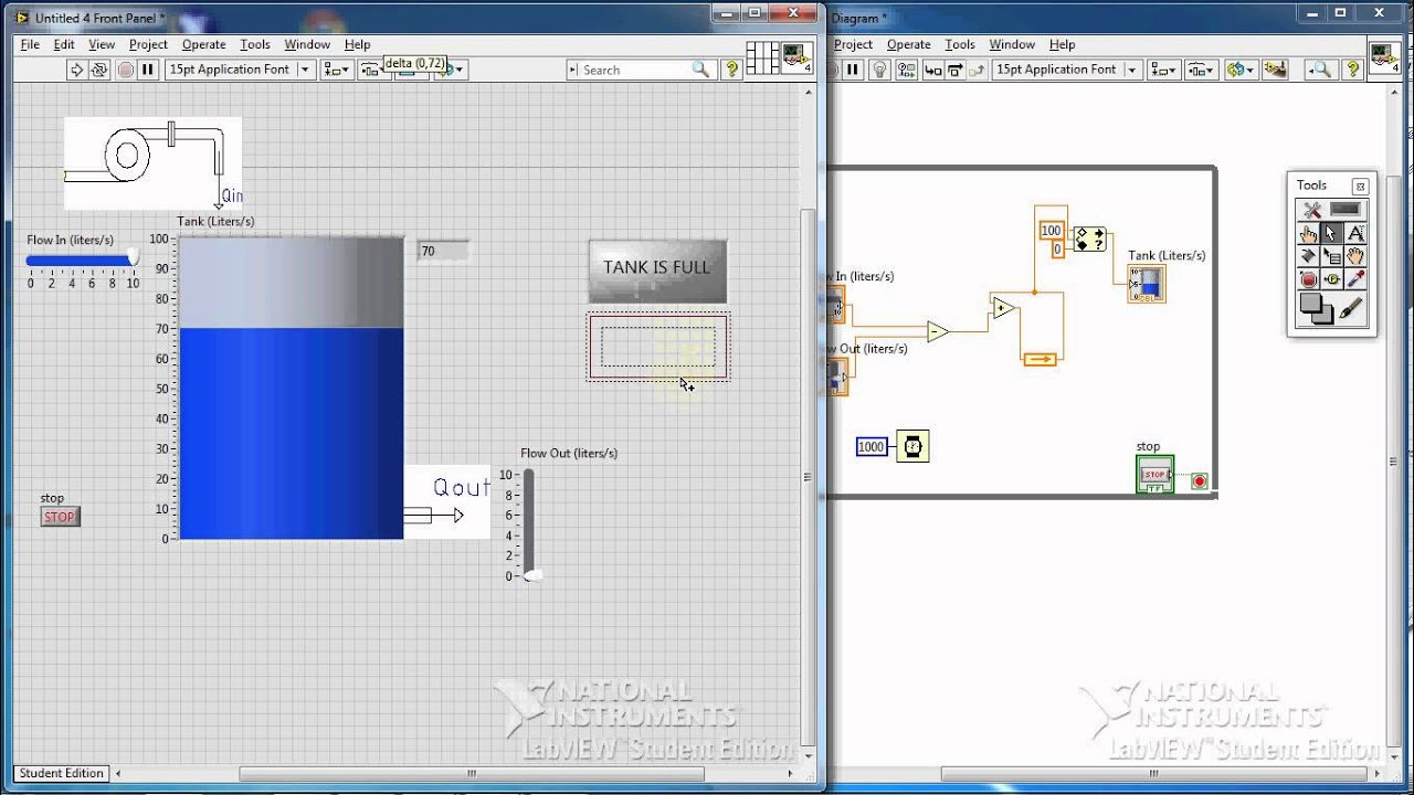 Labview Tutorial 8 Example Ii Tank Level Alarm Part 2 2