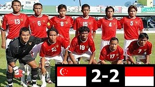 SEA Games 2009 : INDONESIA vs SINGAPURA 2-2 Highlights