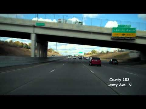 Freeway Driving - Interstate 94 WB (W Jct Interstate 35W to Interstate 694)