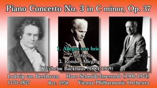 Beethoven: Piano Concerto No. 3, Backhaus u0026 Schmidt-Isserstedt (1958) ベートーヴェン ピアノ協奏曲第3番 バックハウス