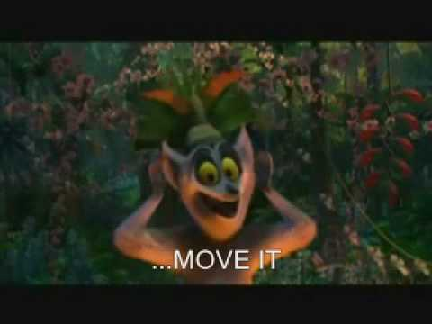 Madagascar  i like to move it  Songtext als Untertitel