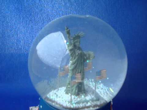 Hallmark Star Spangled Banner SnowGlobe Statue of Liberty