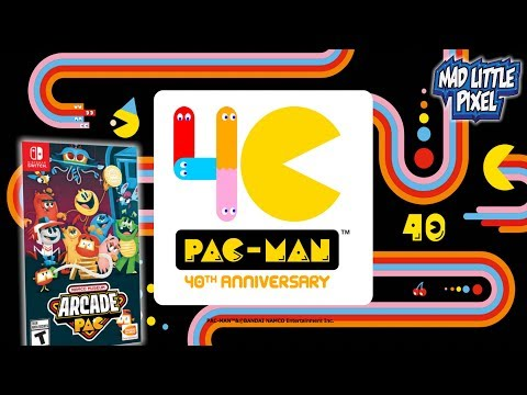 Namco Museum Arcade Pac Nintendo Switch! Pac-Man Is 40 Years Old Today! Madlittlepixel Live!