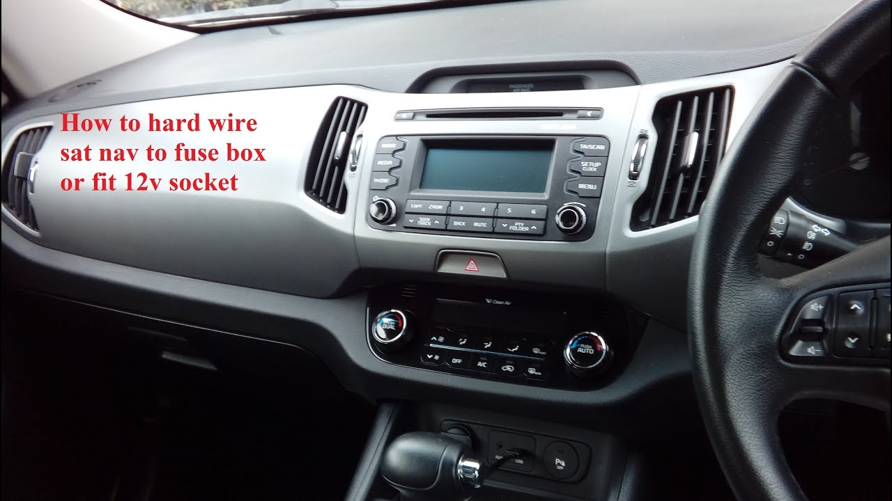 maxresdefault kia sportage 2009 2015 simple how to wire in sat nav or 12v Kia Sportage Engine Fuse at readyjetset.co