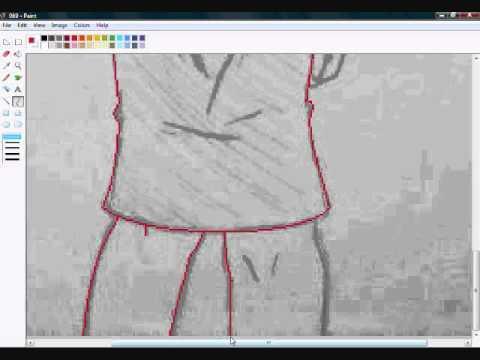 Anime Girl Lineart : Speed ms paint line art anime girl youtube